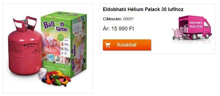 Eldobható Hélium Palack 30