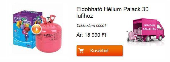 helium palack ingyenes házhozszállítással