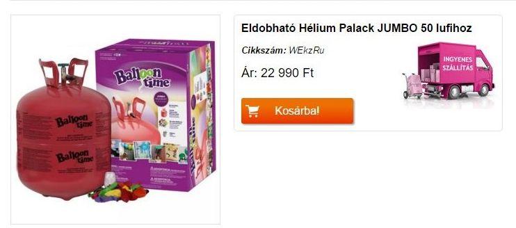 Eldobható Hélium Palack 50
